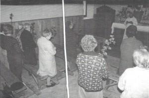Bénédiction des Rogations au Villlard de Serraval dans les années 1980