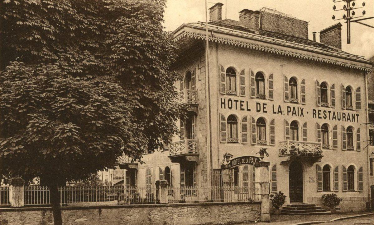Histoire de « L'AUBERGE FLEURIE»   5 rue Jean-Jacques Rousseau à Thônes